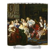 A Reading By Madame De Sevigne Shower Curtain