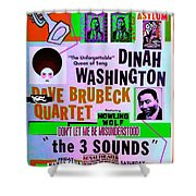 A Rebooted Music Poster Shower Curtain