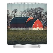 A Red Barn Shower Curtain