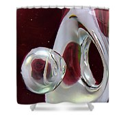 A Reflected Red Rose Shower Curtain