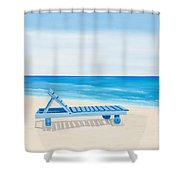A Relaxing Day Shower Curtain
