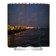 A Relaxing Night Begins Shower Curtain