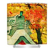 A Return To Fall - Digital Painting Shower Curtain
