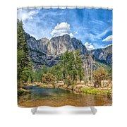 A River Flows Through It Shower Curtain