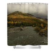 A River Runs Through The Brooks Range Alaska Shower Curtain