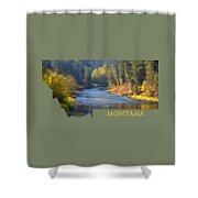 A River Runs Thru Autumn Shower Curtain