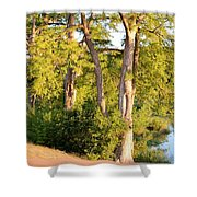 A River Walk Shower Curtain