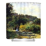 A Road In Louveciennes Shower Curtain