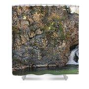 A Rocky Flow Shower Curtain
