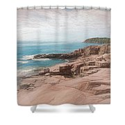 A Coastal Scene Shower Curtain