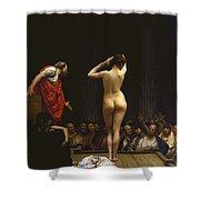 A Roman Slave Market Shower Curtain