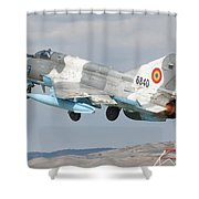 A Romanian Air Force Mig-21c Taking Shower Curtain