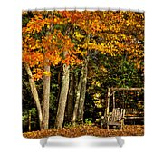 A Romantic Autumn Spot In Inlet Shower Curtain