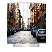 A Rome Street Shower Curtain