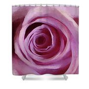 A Rose Abstract Shower Curtain