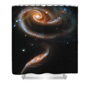 A Rose Made Of Galaxies Shower Curtain