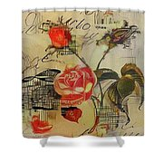 A Rose Story Shower Curtain