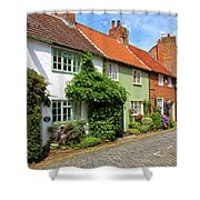 A Row Of Cottages Shower Curtain