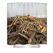 A Rubbish Pile Shower Curtain