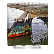 A Rudder Of Many Colors Shower Curtain