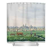 A Ruin Landscape In Sicily Shower Curtain