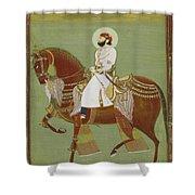 A Ruler On Horseback Shower Curtain