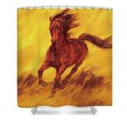 A Running Horse Shower Curtain