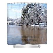 A Rural Lake Shower Curtain