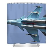 A Russian Air Force Su-34 In Flight Shower Curtain