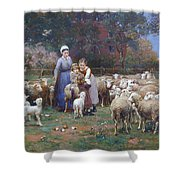 A Rustic Idyll Shower Curtain
