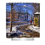 A Sandpoint Winter Shower Curtain
