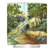A Sandy Place To Rest Shower Curtain