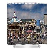 A Scene At The San Francisco Carousel Shower Curtain