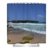 A Scenic Look At Boca Keto On The Island Of Aruba Shower Curtain