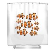 A School Of Clown Fish Shower Curtain