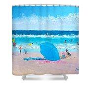 A Sea Breeze Shower Curtain