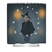 A Sea Witch's Blessed Yule Shower Curtain