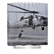 A Search And Rescue Swimmer Jumps Shower Curtain