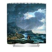 A Seastorm Shower Curtain
