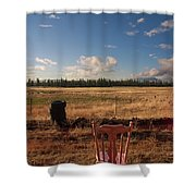 A Seat With A View Shower Curtain