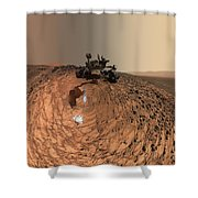 A Selfie On Mars Shower Curtain