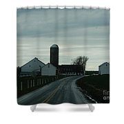 A Serene Evening Shower Curtain