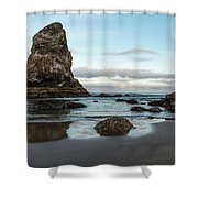 A Serene Morning At Cannon Beach Shower Curtain