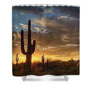 A Serene Sunset In The Sonoran Desert  Shower Curtain