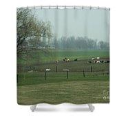 A Serene Vista Shower Curtain