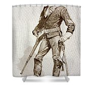 A Sergeant Of The Us Cavalry Shower Curtain