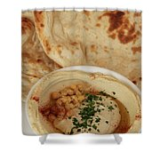 A Serving Of Humus Shower Curtain