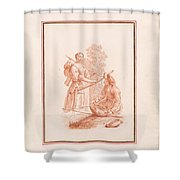 A Shepherdess And A Fishseller Shower Curtain