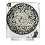 A Shield In Iron And Guns Shower Curtain