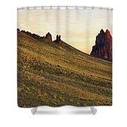 A Shiprock Sunrise - New Mexico - Landscape Shower Curtain